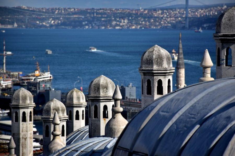 Süleymaniye Camisinden İstanbul manzarası