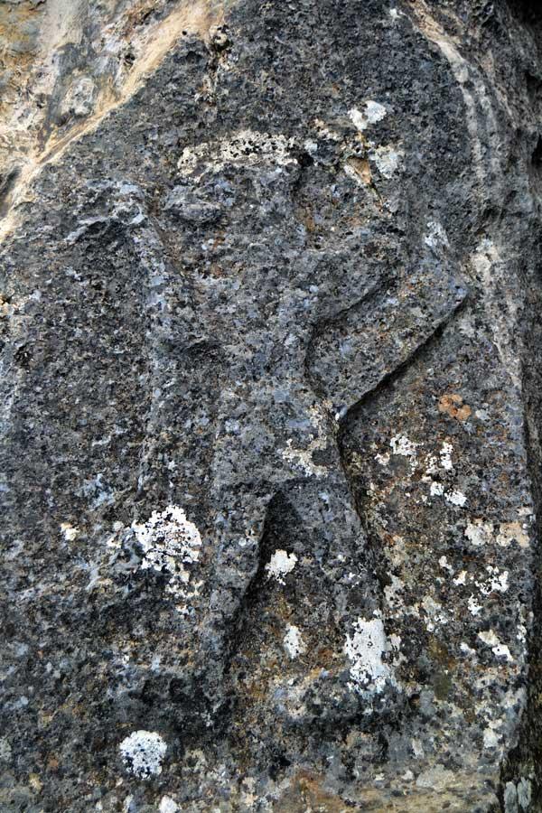 Çorum Yazılıkaya fotoğrafları Açık Hava Tapınağı apotropeik aslan adam kabartması - Yazilikaya Hittite Open Air Temple apotropaic lion man relief, Corum Turkey