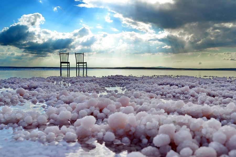 İç Anadolu Tuz gölü tuzları - salt of Salt lake, Turkey