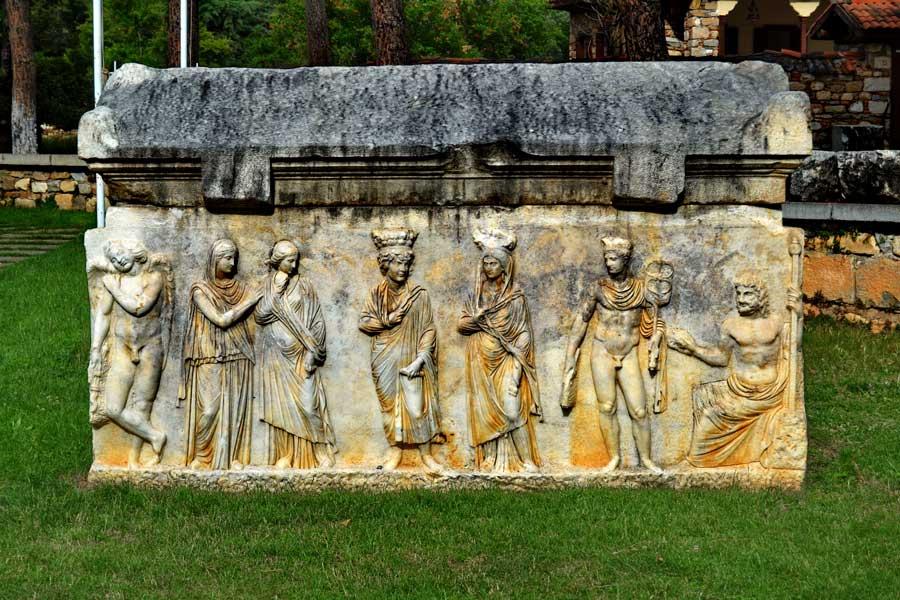 Afrodisias Roma dönemi lahitleri, Afrodisias fotoğrafları - Roman sarcophagus at Aphrodisias photos