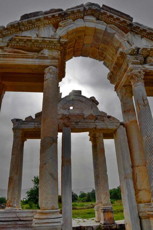 Afrodisias Tetrapylon, Afrodisias fotoğrafları - Tetrapylon, Aphrodisias photos
