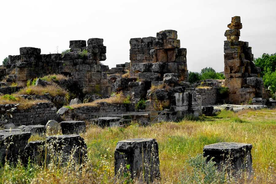 Afrodisias antik kenti Hadrian hamamları, Afrodisias fotoğrafları - Hadrian Baths, Aphrodisias ancient city photos