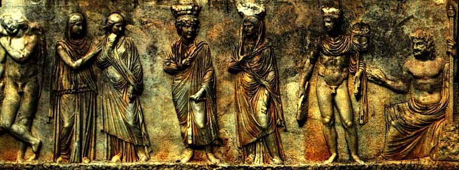 Afrodisias antik kenti Roma dönemi lahit detayı, Afrodisias fotoğrafları - Detail of a Roman sarcophagus, Aphrodisias photos