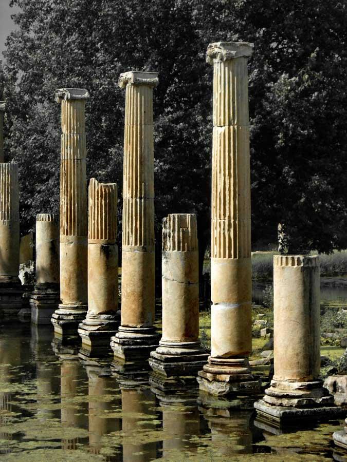 Afrodisias antik kenti Tiberius Portikosu fotoğrafları - Tiberius Portico, Aphrodisias ancient city photos