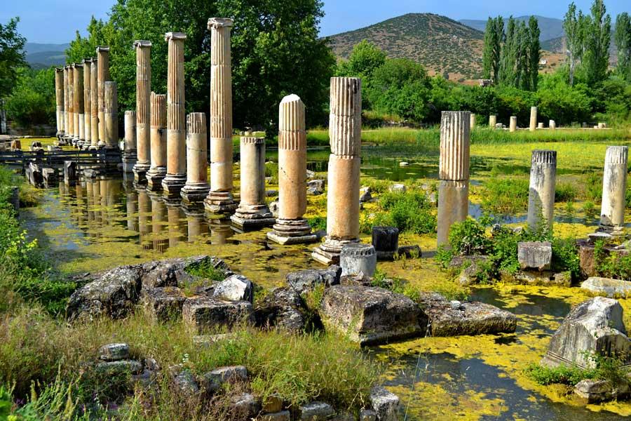 Afrodisias antik kenti Tiberius portikosu, Afrodisias fotoğrafları - Tiberius Portico, Aphrodisias photos