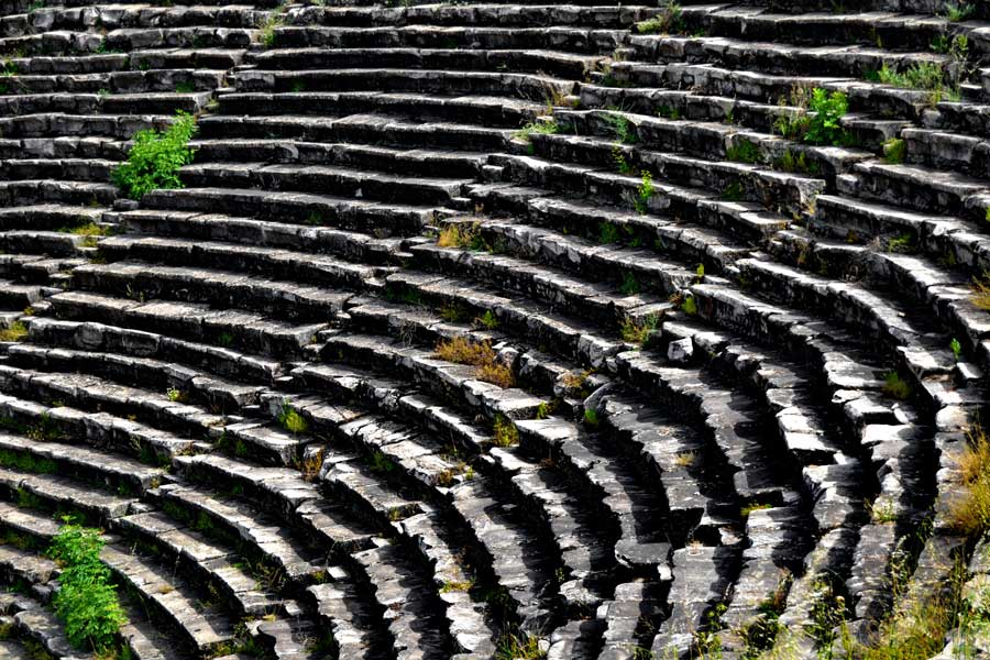 Afrodisias antik kenti antik Roma tiyatrosu, Afrodisias fotoğrafları - Ancient Roman Theatre at Aphrodisias