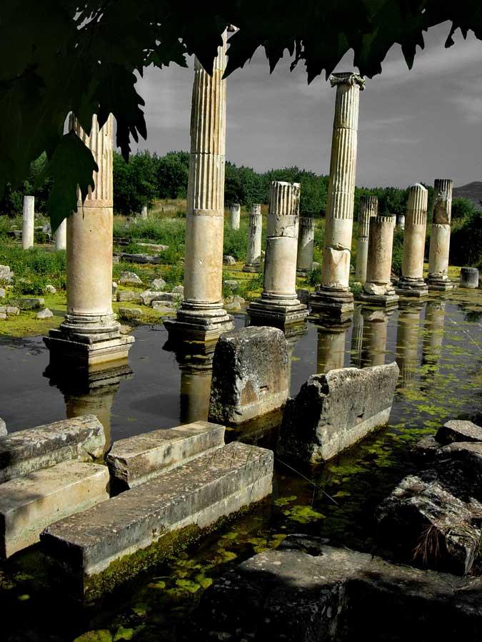 Afrodisias antik kenti fotoğrafları Tiberius Portikosu - Tiberius Portico, Aphrodisias photos