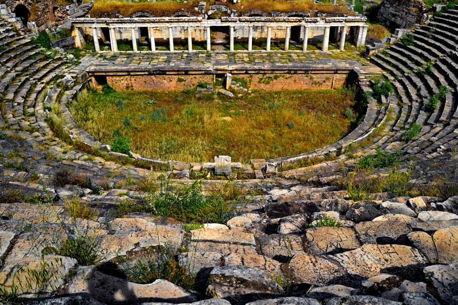 Afrodisias antik tiyatro, Afrodisias antik kenti fotoğrafları - Roman Theatre, Aphrodisias ancient city photos
