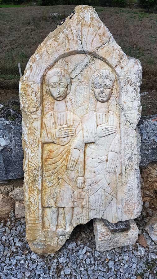 Aizanoi antik kenti Roma dönemi mezar taşı, Çavdarhisar Kütahya - Aizanoi ancient city Roman period tombstone, Turkey
