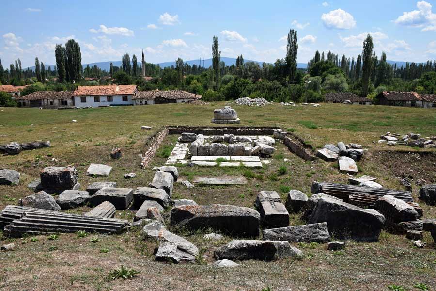Aizanoi antik kenti Zeus tapınağı altarı Çavdarhisar Kütahya - Aizanoi ancient city the altar of Zeus temple, Turkey