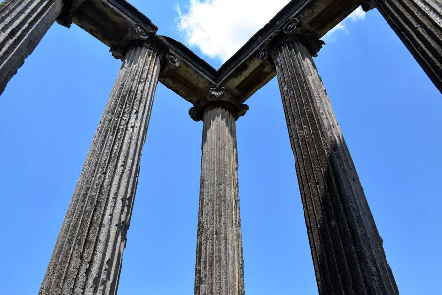 Aizanoi antik kenti fotoğrafları Zeus tapınağı sütunları, Çavdarhisar Kütahya - Aizanoi ancient city columns of Zeus temple, Turkey