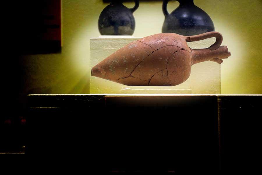 Balıkesir Bandırma Arkeoloji Amphoriskos, Daskyleion kalıntıları - Amphoriskos from the ruins at Dacylium, Bandirma Archaeological Museum, Turkey