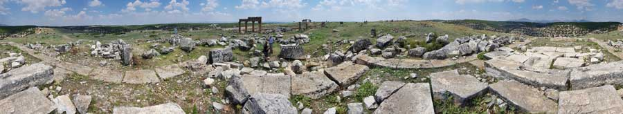Blaundus antik kenti panaromik fotoğrafları, Ulubey Uşak Ege bölgesi - Blaundus ancient city panaromic photos, Aegean region Turkey