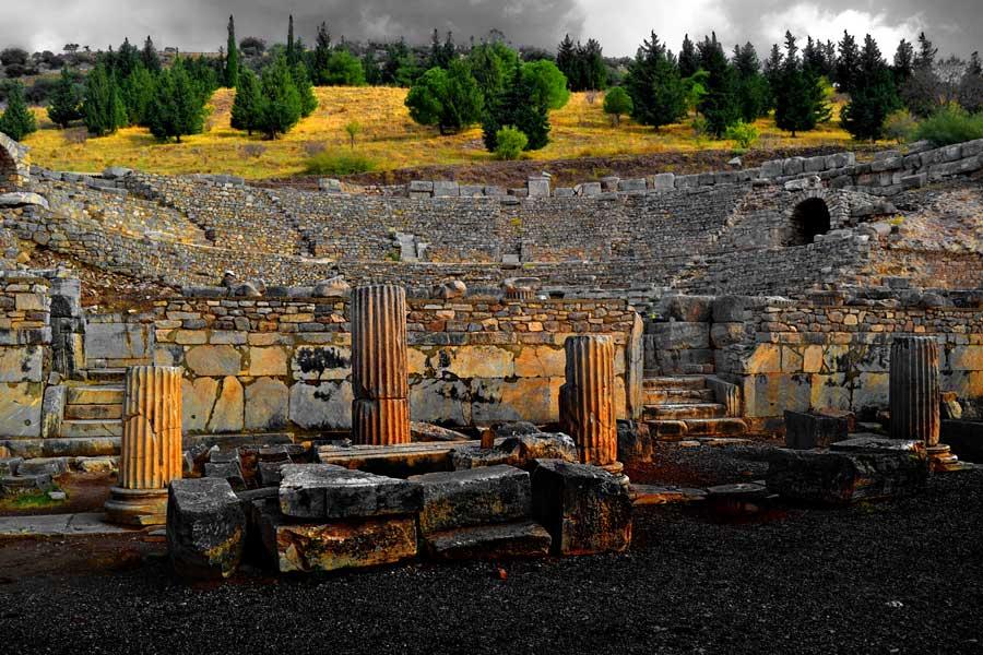 Efes antik kenti Büyük Efes tiyatrosu, Efes fotoğrafları - the great theater, Ephesus photos