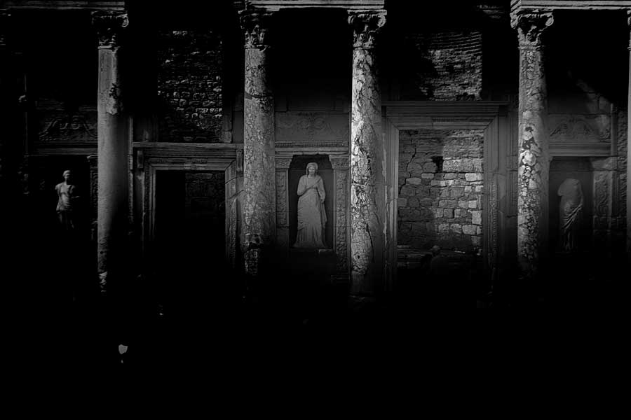 Efes antik kenti Celcius kütüphanesi, Efes fotoğrafları - Celcius library, Ephesus ancient city photos