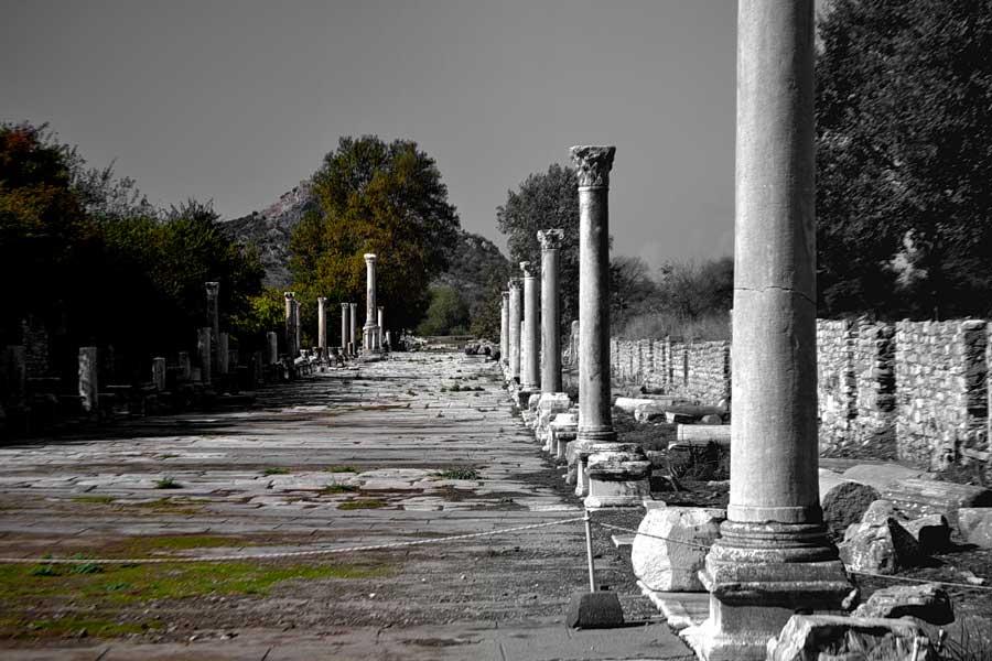 Efes antik kenti fotoğrafları Liman caddesi - Harbour street, Ephesus photos
