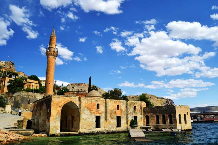 Eski Halfeti fotoğrafları Ulu Cami Şanlıurfa Güneydoğu Anadolu - Grand Mosque of old Halfeti, Sanliurfa Southeastern Anatolia