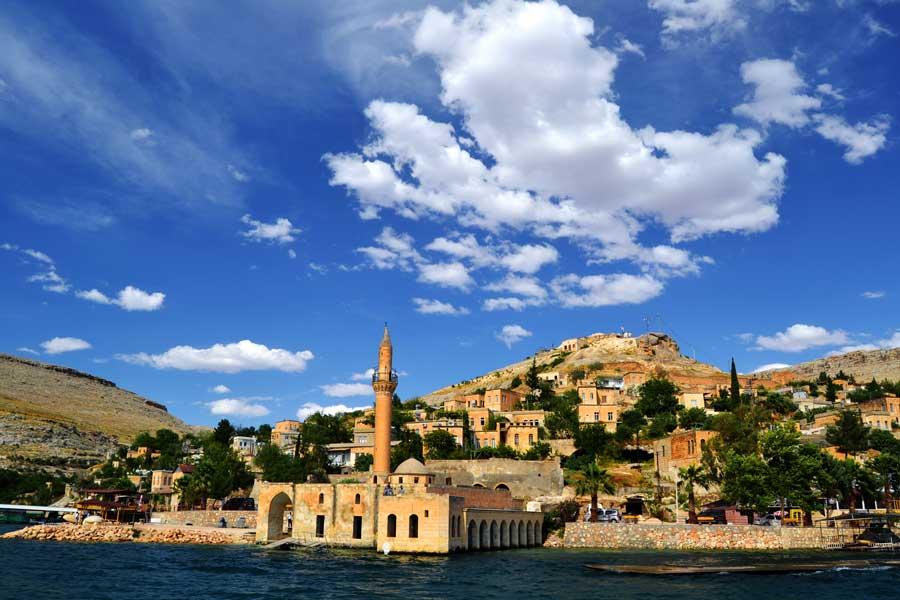 Eski Halfeti fotoğrafları Ulu Cami Şanlıurfa Güneydoğu Anadolu - Grand Mosque of old Halfeti, Southeastern Anatolia Sanliurfa