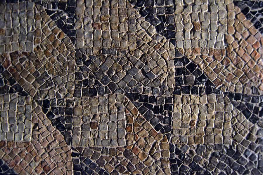 Gaziantep Zeugma Mozaik Müzesi fotoğrafları geometrik mozaik detayı - Geometric mosaic detail at Zeugma Mosaic Museum Southeastern Anatolia region Turkey