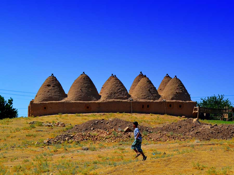 Harran konik kubbeli evleri, Harran fotoğrafları - Harran is famous for its traditional 'beehive' adobe houses, Harran photos Southeastern Anatolia Region