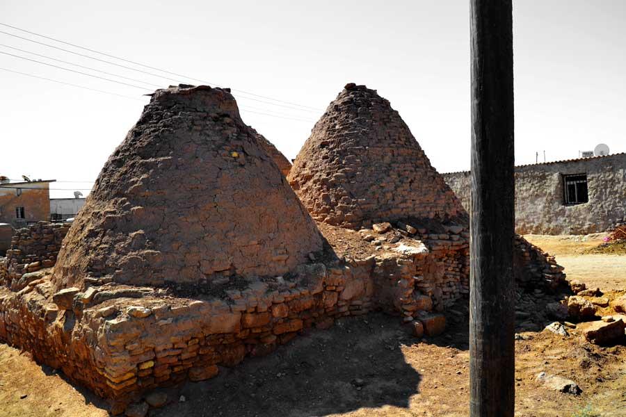 Harran konik kubbeli evleri Harran ovası Güneydoğu Anadolu Bölgesi Şanlıurfa fotoğrafları - Harran photos Sanliurfa Southeastern Anatolia Region