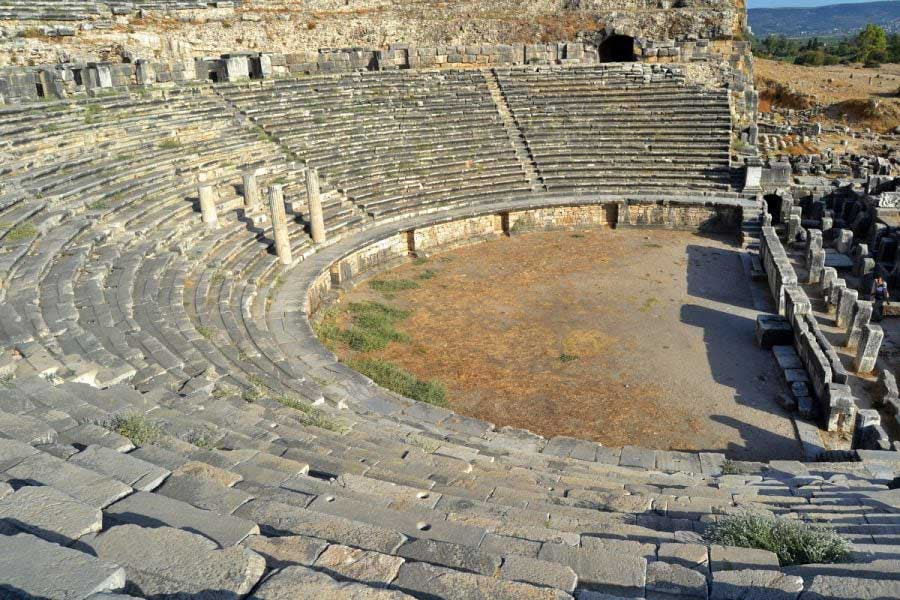 Milet antik kenti fotoğrafları antik roma tiyatrosu - ancient roman theatre, Miletus ancient city photos