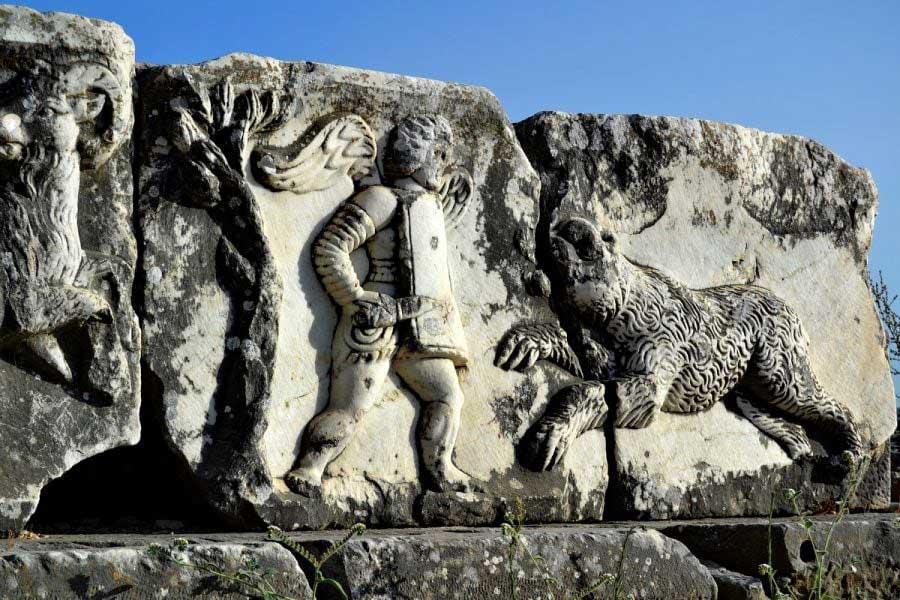 Milet taş kabartmalar, Milet antik kenti fotoğrafları - Stone reliefs, Miletus ancient city photos