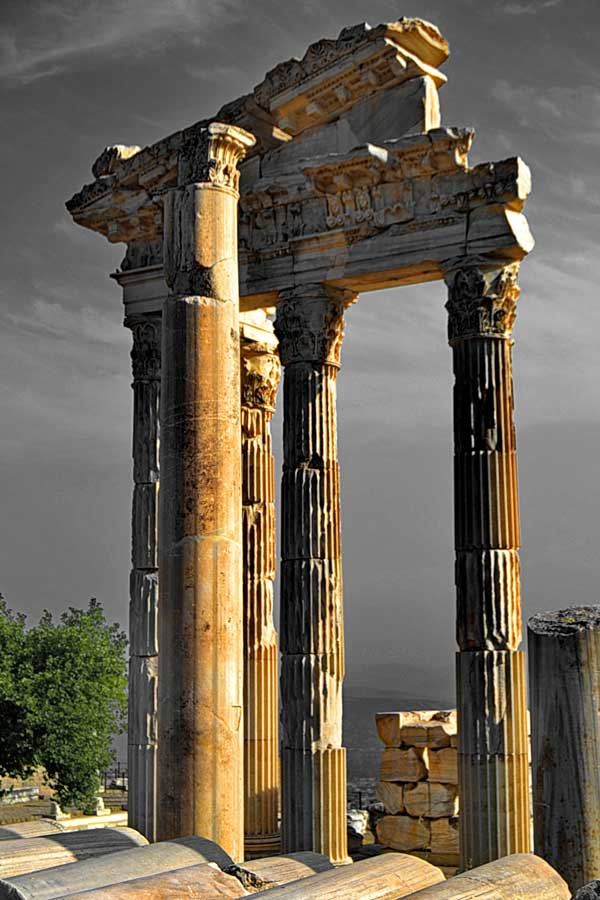 Pergamon antik kenti Trajan tapınağı, Pergamon antik kenti fotoğrafları - Trajaneum, Pergamon ancient city photos