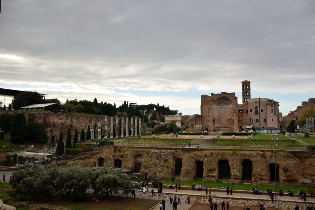 Roma, Palatino tepesi Venüs ve Roma Tapınağı - Temple of Venus and Roma (Il Tempio di Venere e Roma), Rome