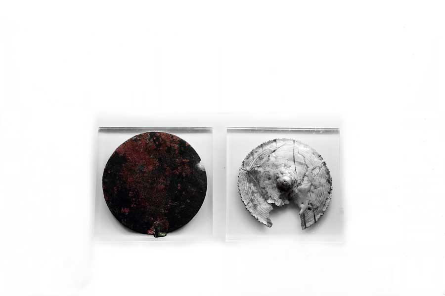 Roma dönemi gümüş ayna M.Ö.27-M.S.310 Balıkesir Bandırma Arkeoloji Müzesi - Silver mirror Roman Period 27 B.C-310A.D. Bandirma Archaeological Museum, Turkey