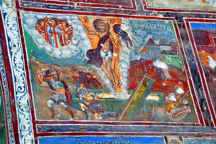 Sümela manastırı duvar freskleri detayları ve renkleri, Sümela manastırı fotoğrafları - details, Sumela monastery photos