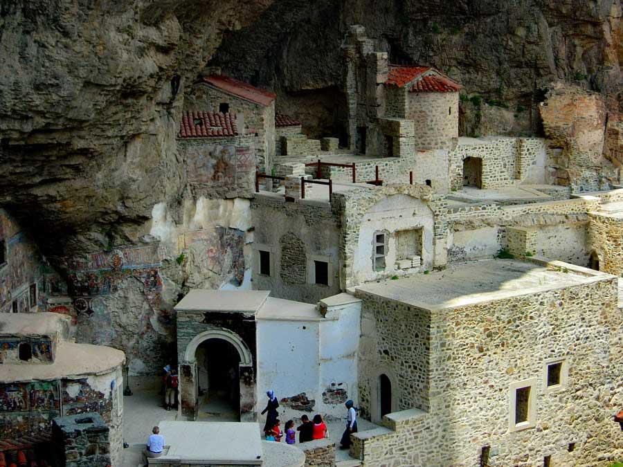 Sümela manastırı genel görünümü, Sümela manastırı fotoğrafları - like a maquette, Sumela monastery photos
