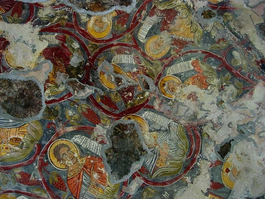 Sümela manastırı tavan freskleri, Sümela manastırı fotoğrafları - details, Sumela monastery photos
