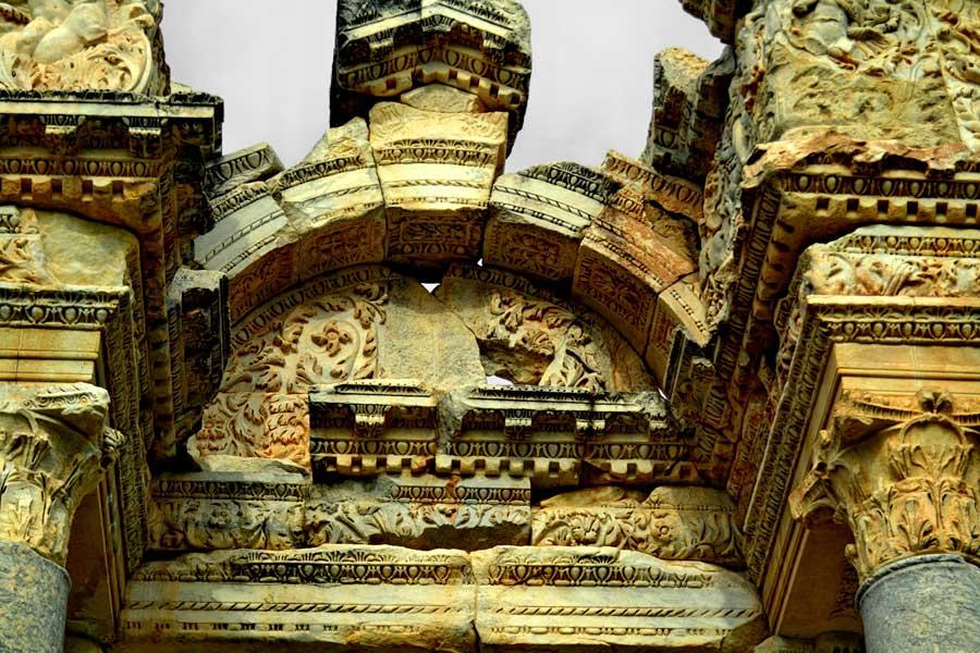 Tetrapylon detayı Afrodisias antik kenti fotoğrafları - Tetrapylon, Aphrodisias ancient city photos