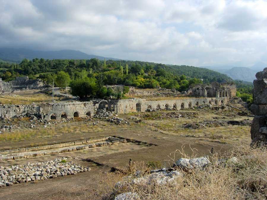Tlos, Stadyumdan şehre bakış, Tlos antik kenti fotoğrafları - View of the city from the stadium, Tlos photos