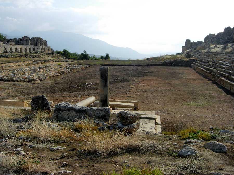 Tlos antik kenti Roma stadyumu, Muğla fotoğrafları - Roman stadium, Tlos ancient city photos