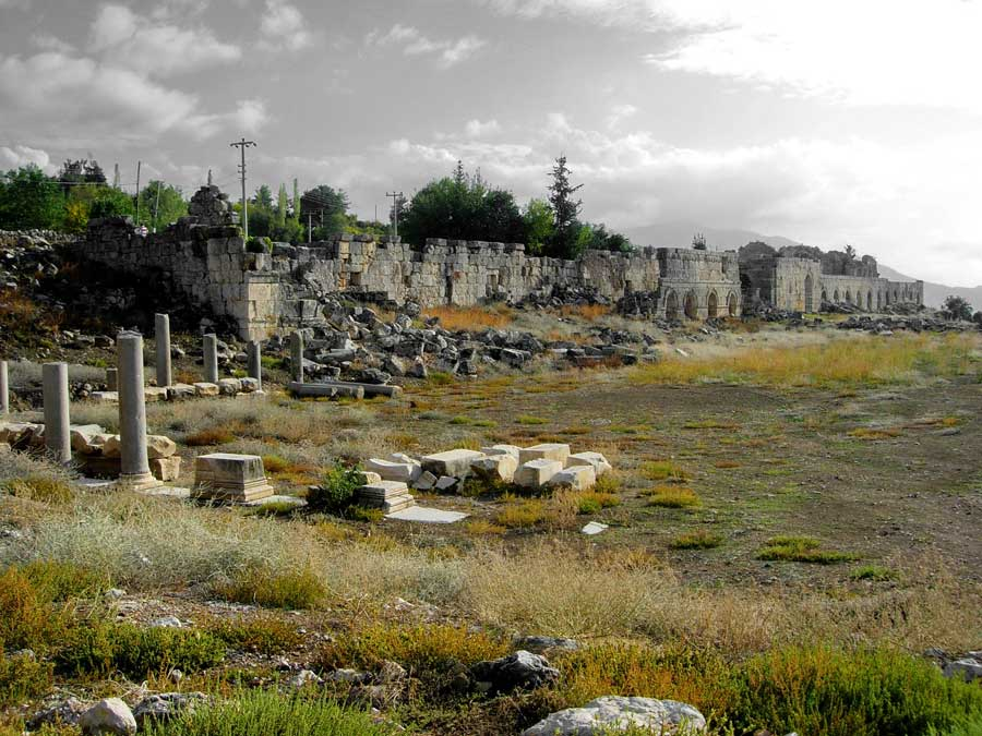 Tlos antik kenti agorası, Tlos fotoğrafları - Agora and city, Tlos ancient city photos