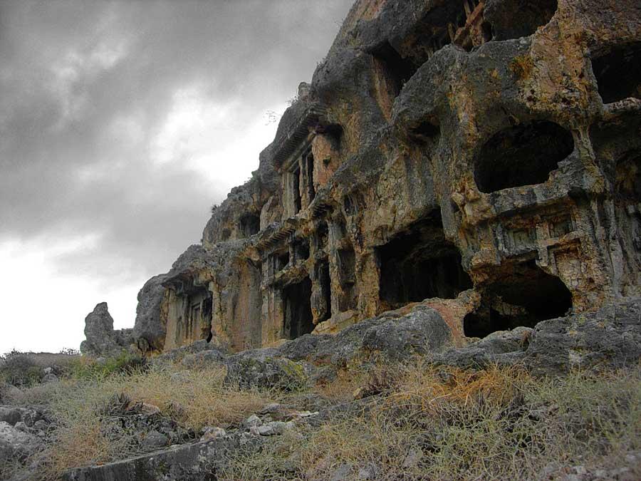 Tlos antik kenti kaya mezarları Muğla Fethiye - Monumental rock tombs, Tlos ancient city photos