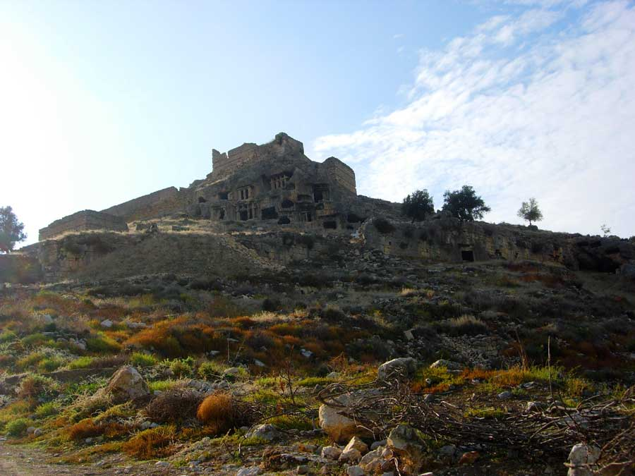Tlos antik kenti kaya mezarları Muğla Fethiye fotoğrafları - Monumental rock tombs, Tlos ancient city photos