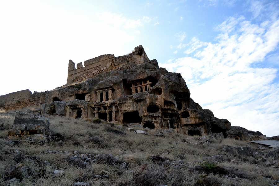 Tlos antik kenti kaya mezarları, Tlos fotoğrafları Fethiye Muğla - Monumental rock tombs, Tlos photos