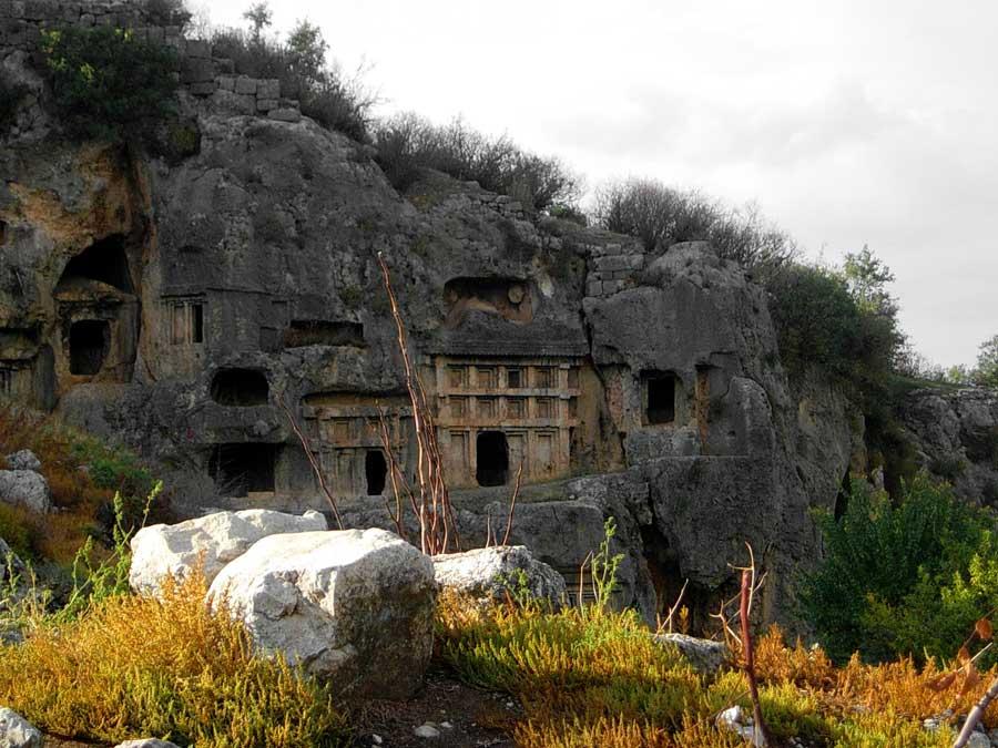 Tlos antik kenti kaya mezarları, Tlos fotoğrafları, Muğla - Monumental rock tombs, Tlos ancient city photos