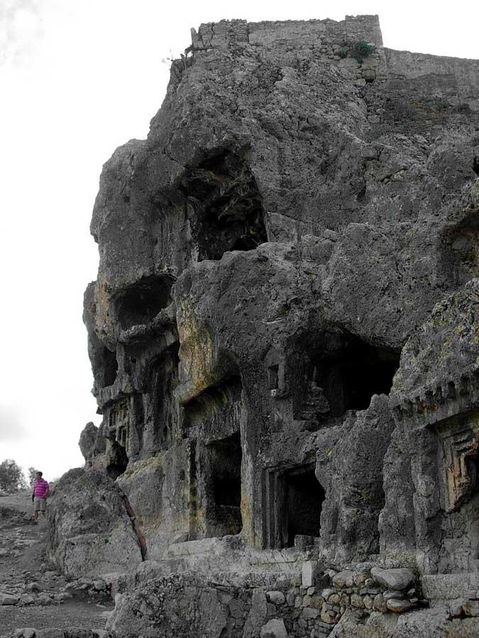 Tlos antik kenti kaya mezarları fotoğrafları, Muğla - Monumental rock tombs, Tlos ancient city photos