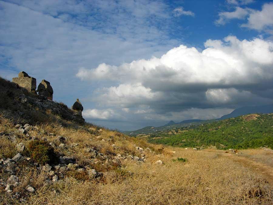 Tlos antik kenti tipik Likya lahitleri, Muğla Fethiye fotoğrafları - Typical Lycian sarcophagus, Tlos photos