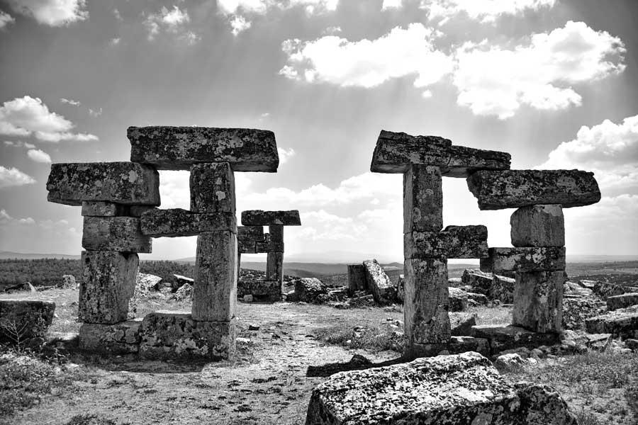 Uşak Blaundus antik kenti kalıntıları fotoğrafları, Ulubey, Uşak - Ruins of the Blaundus ancient city, Aegean region Turkey