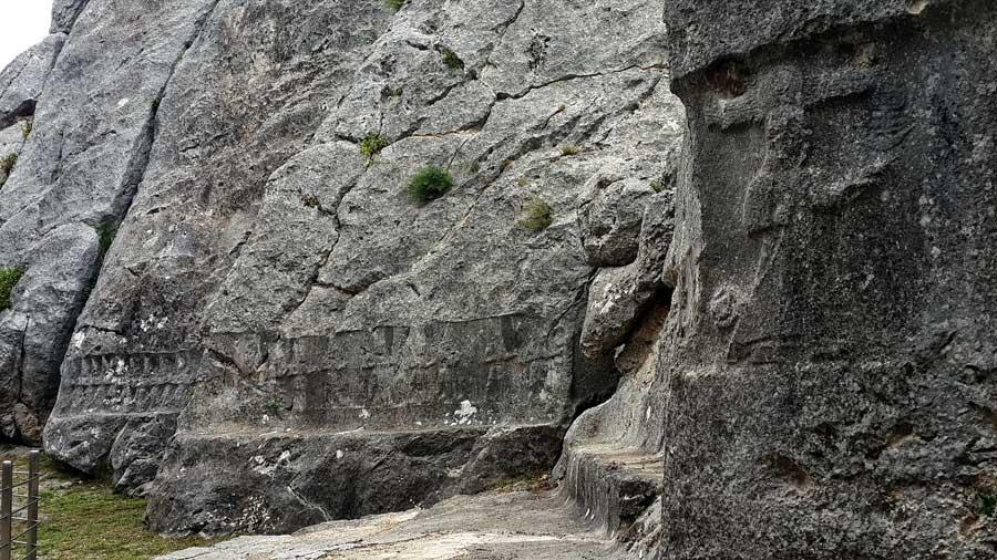 Yazılıkaya fotoğrafları Açık Hava Tapınağı on iki tanrı kabartmaları Boğazköy Çorum - Yazilikaya Open Air Temple 12 god reliefs, Bogazkoy Corum Turkey