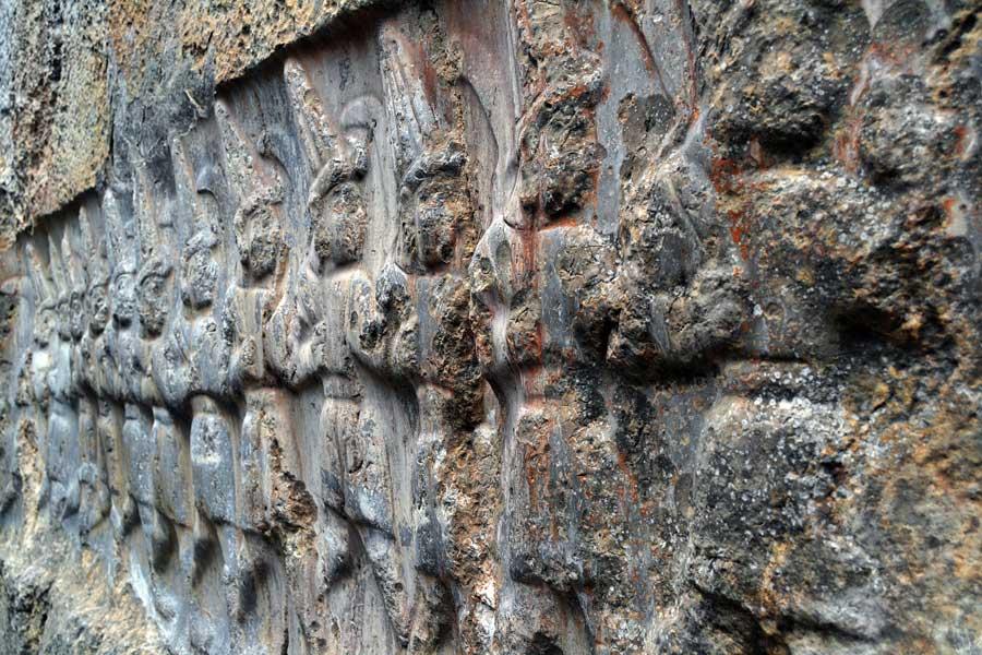 Yazılıkaya fotoğrafları B (doğu) odası 12 tanrı kabartması Çorum - Yazilikaya photos the B (east) room 12 god relief Turkey