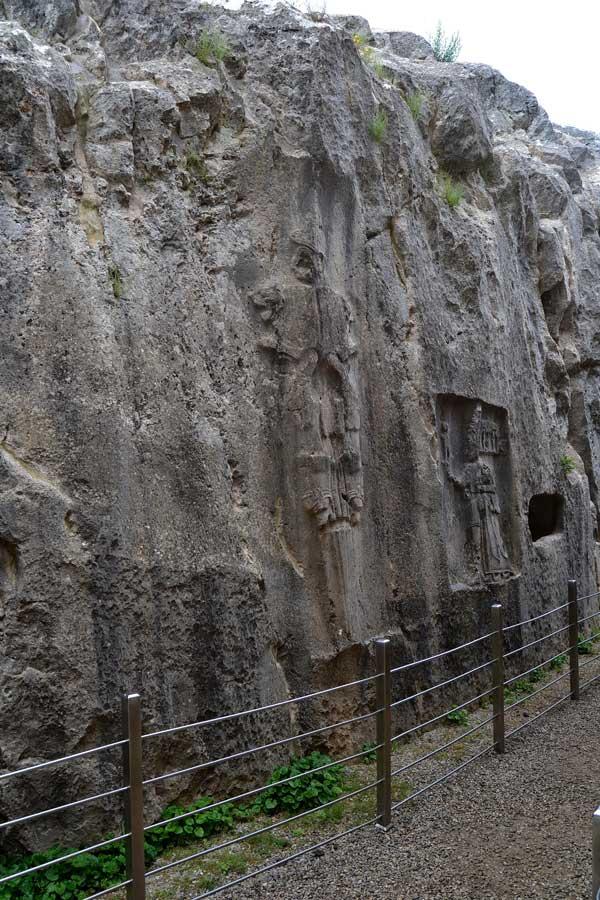 Yazılıkaya fotoğrafları açık hava tapınağı kabartmaları Boğazköy Çorum - Yazilikaya Hittite open air temple and reliefs Bogazkoy Corum Turkey
