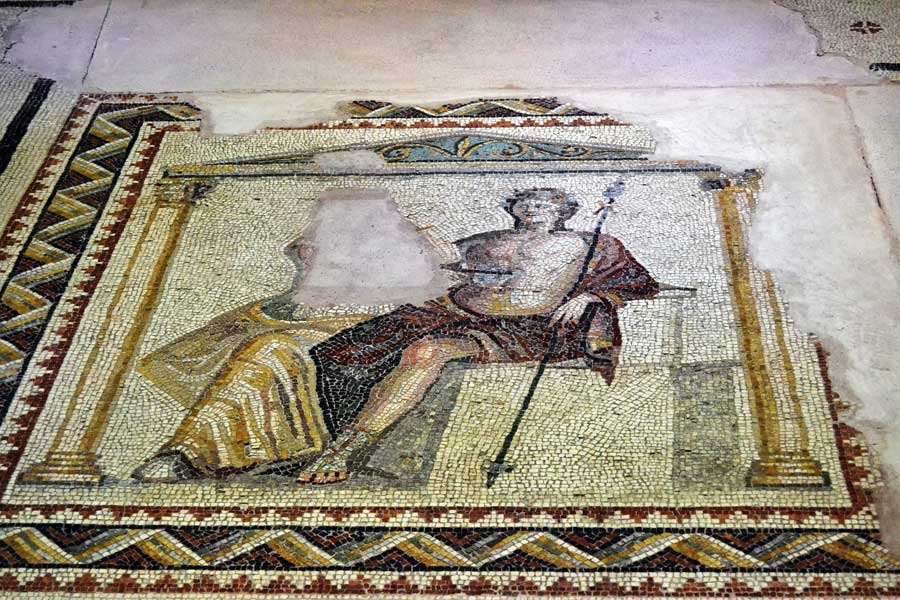 Zeugma Mozaik Müzesi Dionysos ve Ariadne Mozaiği M.S. 1-3 yy. - Dionysus and Ariadne mosaics 3th-3th Century A.D. Turkey Zeugma Mosaic Museum