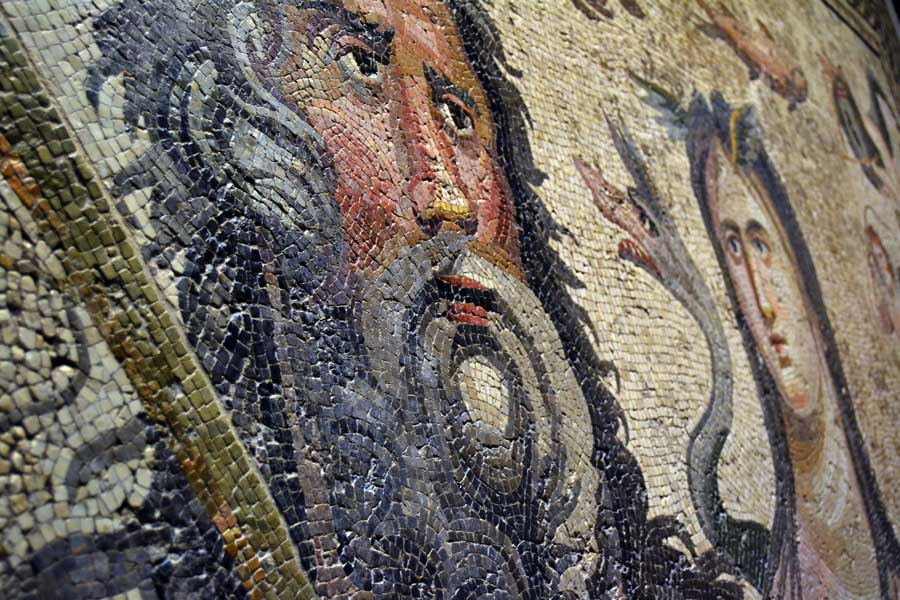 Zeugma Mozaik Müzesi Gaziantep Okeanos (ilk titan) ve Tethys mozaiği - Oceanos (first Titan) and Tethys mosaic, Zeugma Mosaic Museum Southeastern Anatolia region