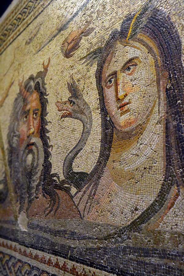 Zeugma Mozaik Müzesi Gaziantep Okeanos ve Tethys mozaiği - Oceanos and Tethys mosaic, Zeugma Mosaic Museum Southeastern Anatolia region